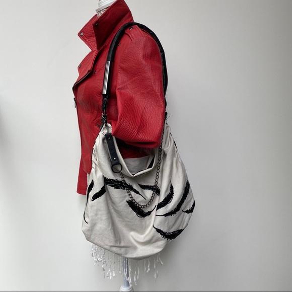 Leigh & Luca New York Handbags - Leigh & Luca New York Leigh Feather Hobo Purse